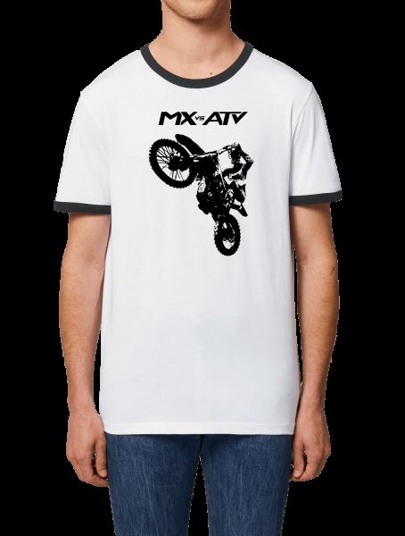 """MX vs. ATV Ringer T-Shirt """"Wheelie"""""""