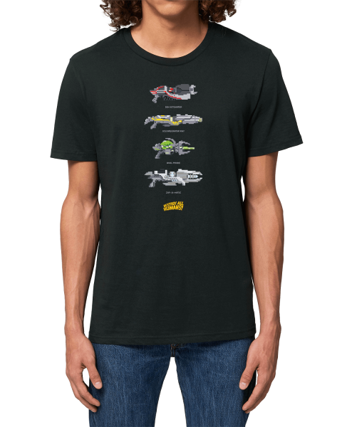 """Destroy all Humans T-Shirt """"Pixel Weapons"""""""