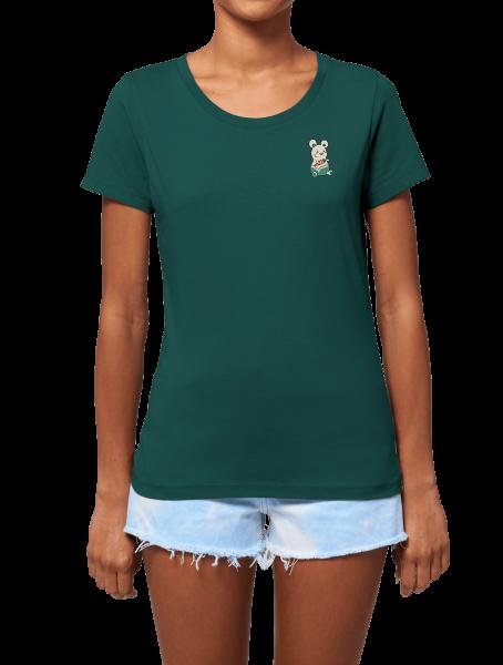 """Biomutant Girlie T-Shirt """"Vending Machine"""" Green"""